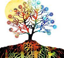 Spiritual Art - Tree Of Life by Sharon Cummings