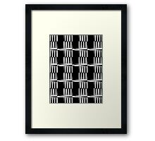 B&W pattern XII Framed Print