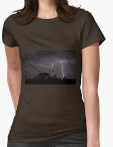 Stormy Night Womens Fitted T-Shirt