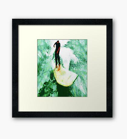 The Surfing Hobbit  Framed Print