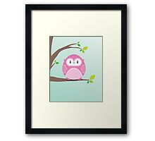 Sweet owl in a tree 4 Framed Print