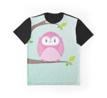 Sweet owl in a tree 4 Graphic T-Shirt