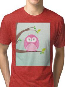 Sweet owl in a tree 4 Tri-blend T-Shirt
