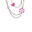 NECKLACE :: funky flowers chain bright colourful by Kat Massard