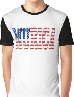 "Patriotic US Flag ""Murica"" Graphic T-Shirt"