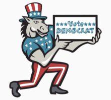 Vote Democrat Donkey Mascot Cartoon by patrimonio