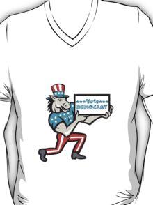 Vote Democrat Donkey Mascot Cartoon T-Shirt