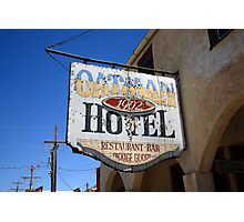 Route 66 - Oatman Hotel Photographic Print