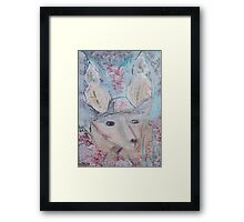 Deer Dog Framed Print