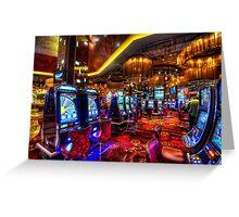 Vegas Slot Machines Greeting Card