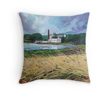 Lagavulin Distillery Throw Pillow