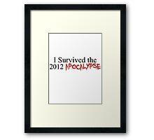 I Survived the 2012 Apocalypse Framed Print