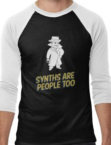 Synths Are People Too Men's Baseball ¾ T-Shirt