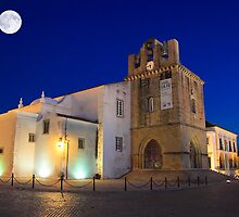 Faro Cathedral At Night by manateevoyager