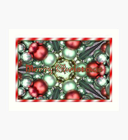Merry Christmas Baubles Art Print