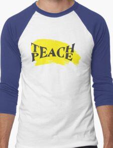 Teach Peace! Men's Baseball ¾ T-Shirt