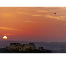 Riding the sunset over the fortress Photographic Print