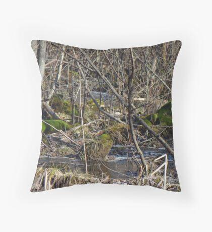 Wetland Winter Wonderland Throw Pillow