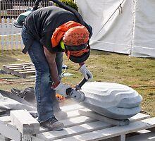 sculptor at work by Anne Scantlebury