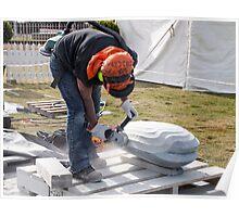 sculptor at work Poster