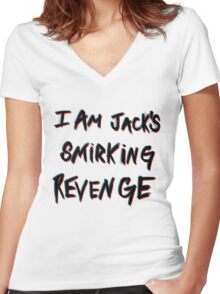 I'm Jack's smirking revenge Women's Fitted V-Neck T-Shirt