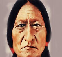 Sitting Bull iPhone Cover by iphonejohn