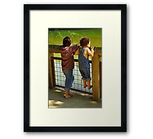 watching the river Framed Print