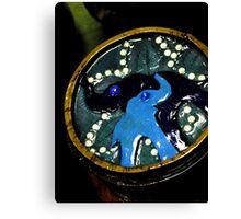 Blue Elephant Love Box Canvas Print