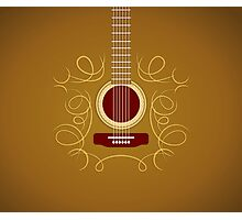 Classic Acoustic Guitar   Photographic Print
