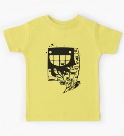 Happy Inside - 1-Bit Oddity - Black Version Kids Tee