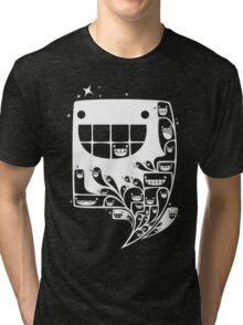 Happy Inside - 1-Bit Oddity - White Version Tri-blend T-Shirt