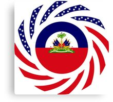 Haitian American Multinational Patriot Flag Series Canvas Print