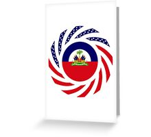 Haitian American Multinational Patriot Flag Series Greeting Card
