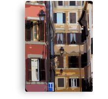 Rome - streetscape Canvas Print