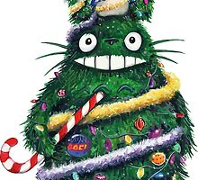 Totoro Christmas Tree by mususama