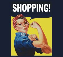 Rosie The Riveter Shopping!			 by crazytees