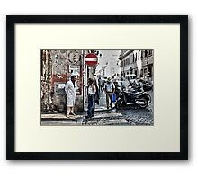 Street Talk Framed Print