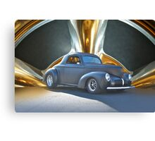 1941 Willys Coupe in Blk Satin Canvas Print