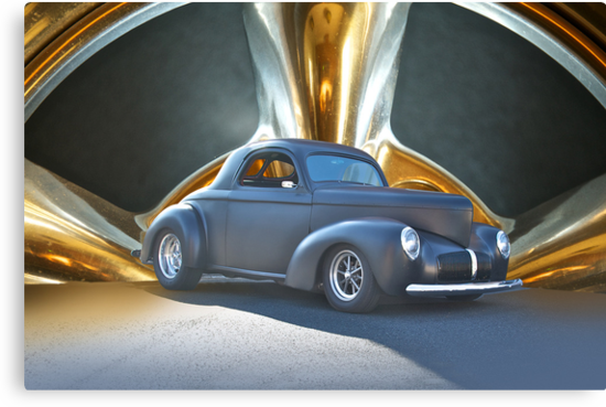 1941 Willys Coupe in Blk Satin by DaveKoontz