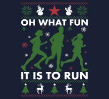 Oh What Fun It Is To Run Kids Tee