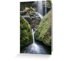 Rinadeena Falls detail, Tasmania Greeting Card