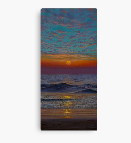 Indian ocean. Sunset Canvas Print