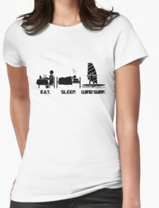 Eating. Sleeping.Wind Surfing T-Shirt Womens Fitted T-Shirt