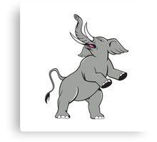 Elephant Prancing Isolated Cartoon Canvas Print