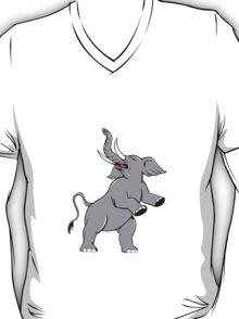 Elephant Prancing Isolated Cartoon T-Shirt