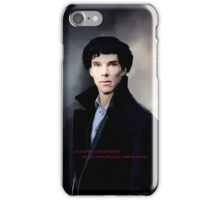 Sherlock portrait iPhone Case/Skin
