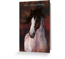 Horse Portrait Birthday Greeting Card - harry Greeting Card