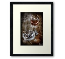 SMOKING WINE Framed Print