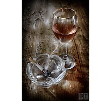 SMOKING WINE Photographic Print