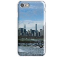 Wintry Windy City Skyline - Chicago, Illinois, USA iPhone Case/Skin